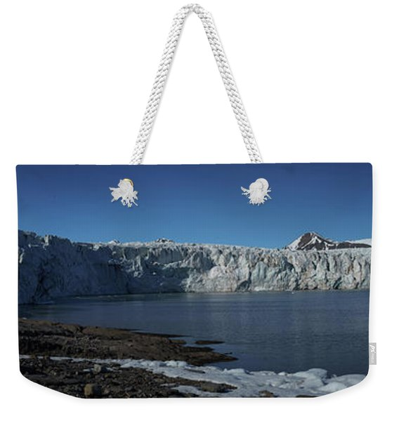 In Front Of A Glacier On Svalbard Weekender Tote Bag