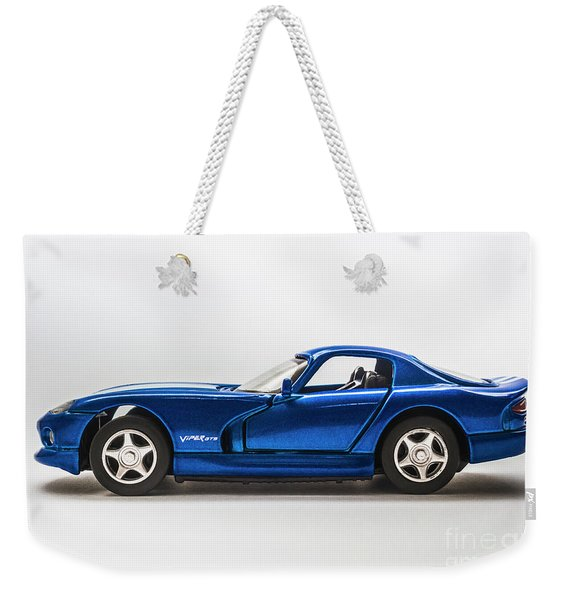 In Race Blue Weekender Tote Bag