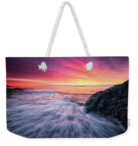 In The Beginning There Was Light Weekender Tote Bag