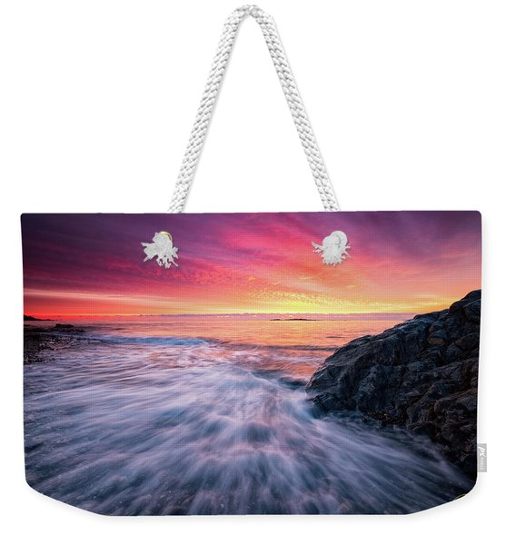 Weekender Tote Bag featuring the photograph In The Beginning There Was Light by Jeff Sinon