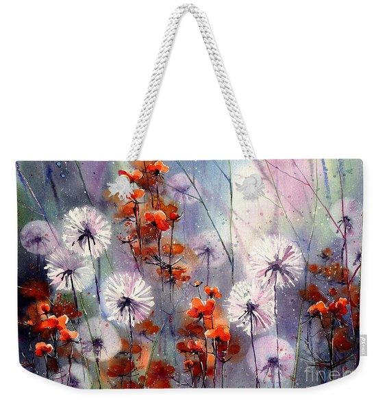 In The Night Garden - Orange Sparkles Weekender Tote Bag