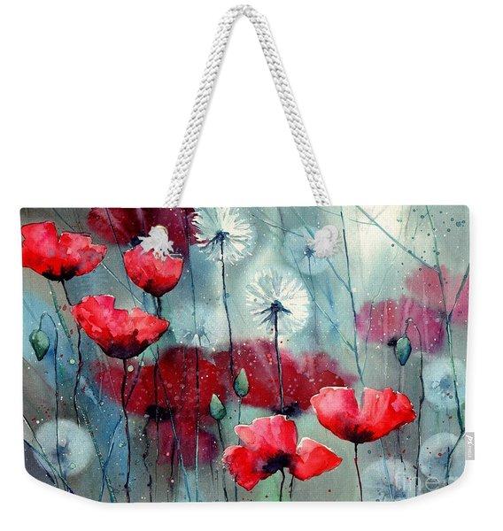 In The Night Garden - Rising Poppies Weekender Tote Bag