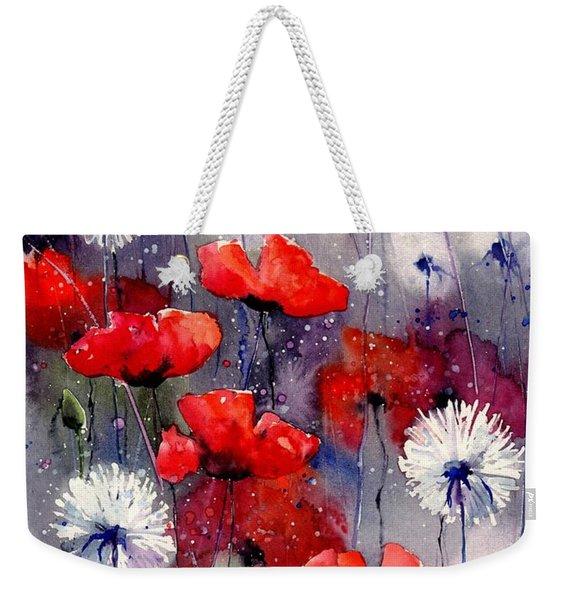 In The Night Garden - Sleeping Poppies Weekender Tote Bag