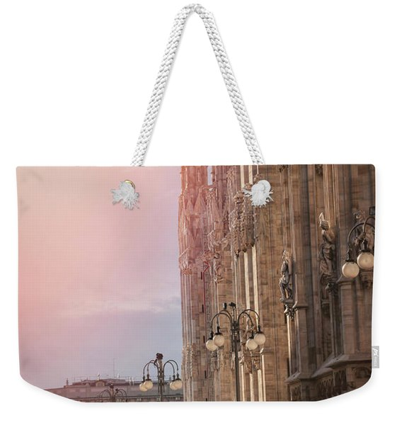 In The Shadow Of Milan Duomo  Weekender Tote Bag