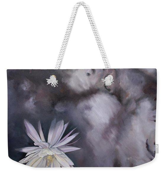In The Shadows-night Blooming Cereus Weekender Tote Bag