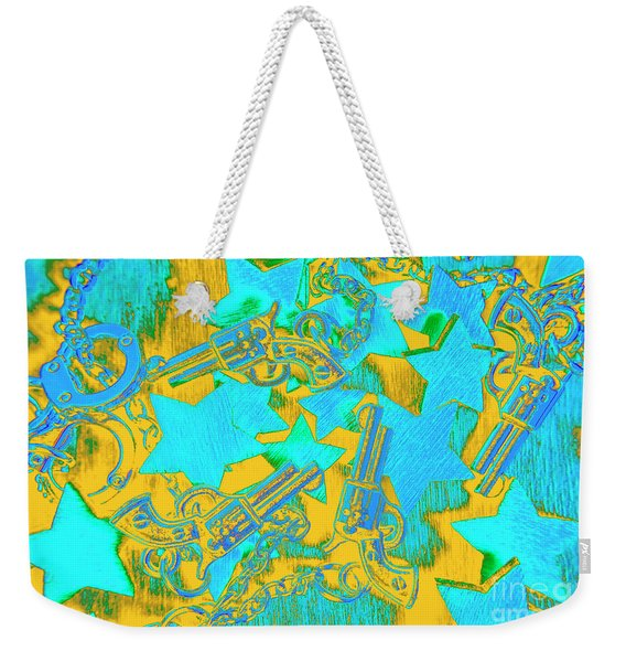 In Wild West Patterns Weekender Tote Bag