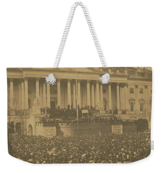 Inauguration Of Abraham Lincoln, March 4, 1861 Weekender Tote Bag