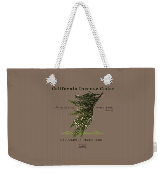 Incense Cedar - Brpwn Text Weekender Tote Bag