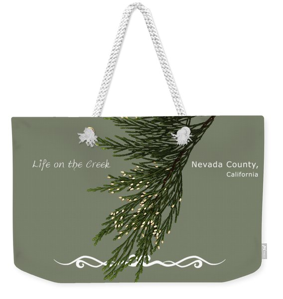 Incense Cedar - White Text Weekender Tote Bag