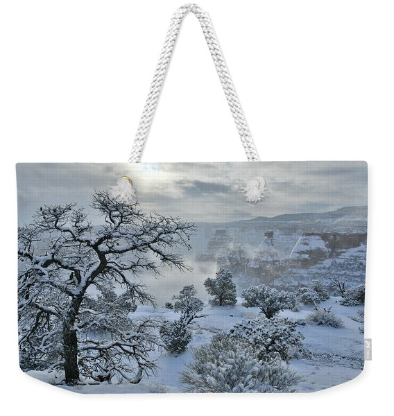 Independence Canyon At Sunrise In Colorado National Monument Weekender Tote Bag
