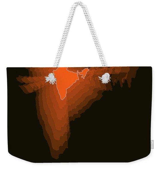 India Radiant Map 1 Weekender Tote Bag