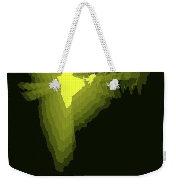 India Radiant Map 2 Weekender Tote Bag