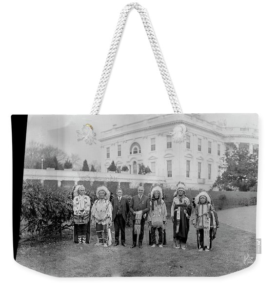 Indian Chiefs With President Harding Weekender Tote Bag