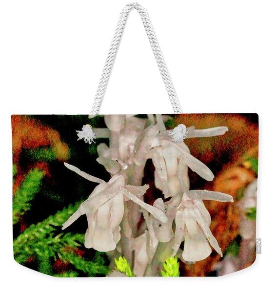 Indian Pipes On Club Moss Weekender Tote Bag