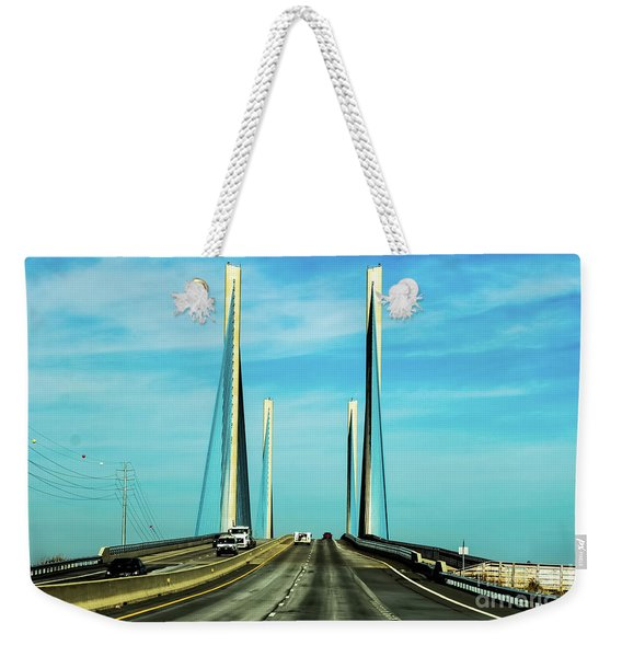 Indian River Inlet Bridge Delaware Weekender Tote Bag