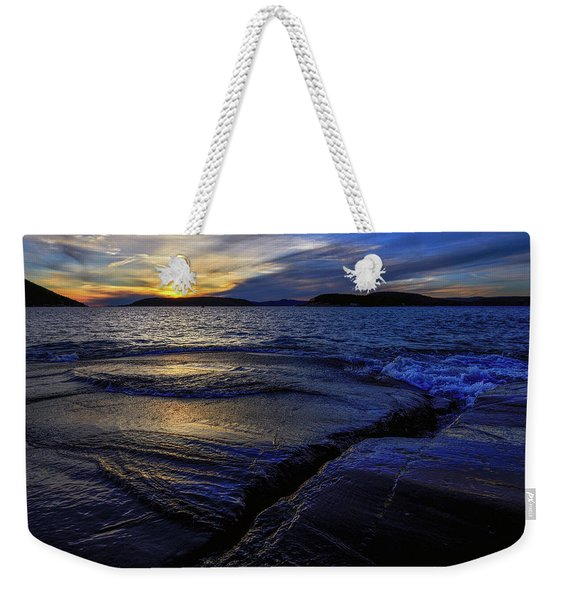 Weekender Tote Bag featuring the photograph Indigo by Doug Gibbons