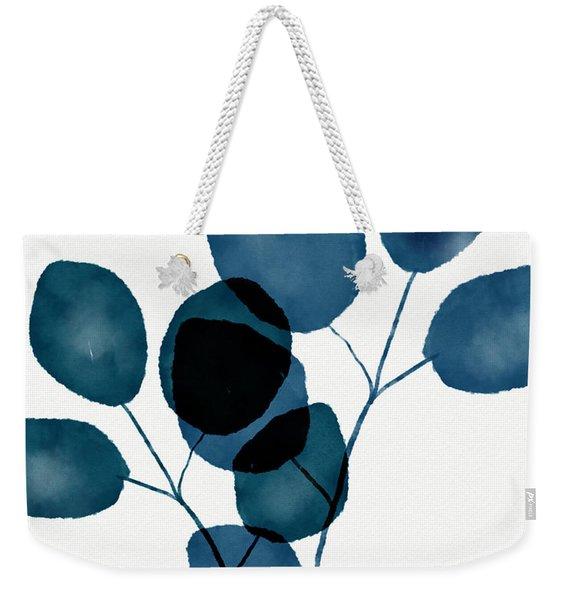 Indigo Eucalyptus 3- Art By Linda Woods Weekender Tote Bag