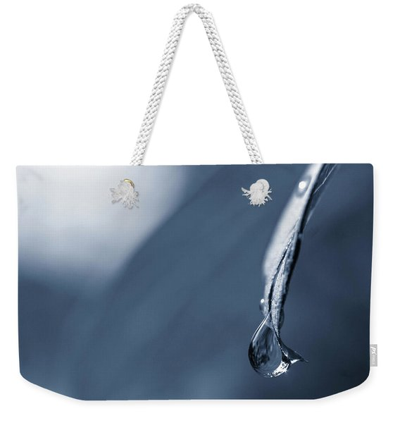 Weekender Tote Bag featuring the photograph Indigo by Michelle Wermuth