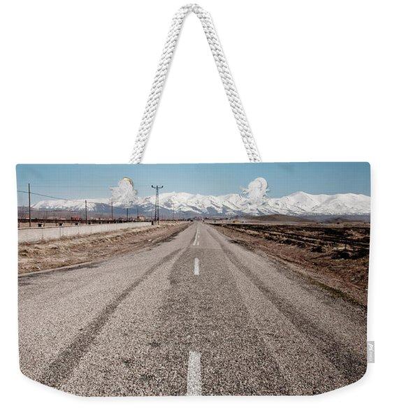infinit road in Turkish landscapes Weekender Tote Bag