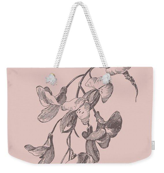 Inflorescence Blush Pink Flower Weekender Tote Bag