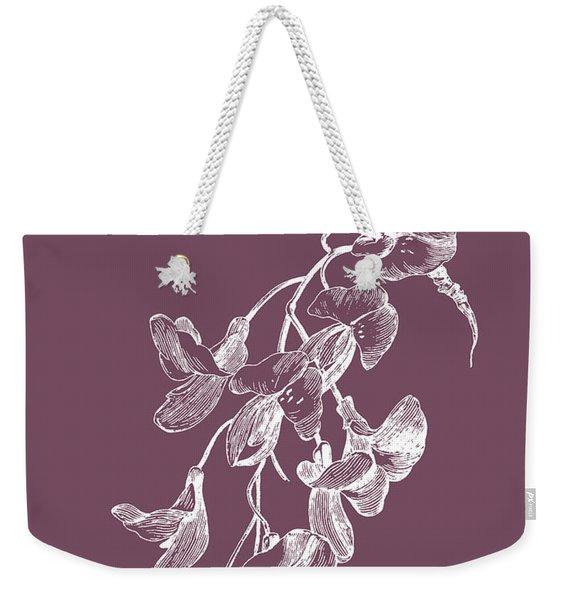 Inflorescence Purple Flower Weekender Tote Bag