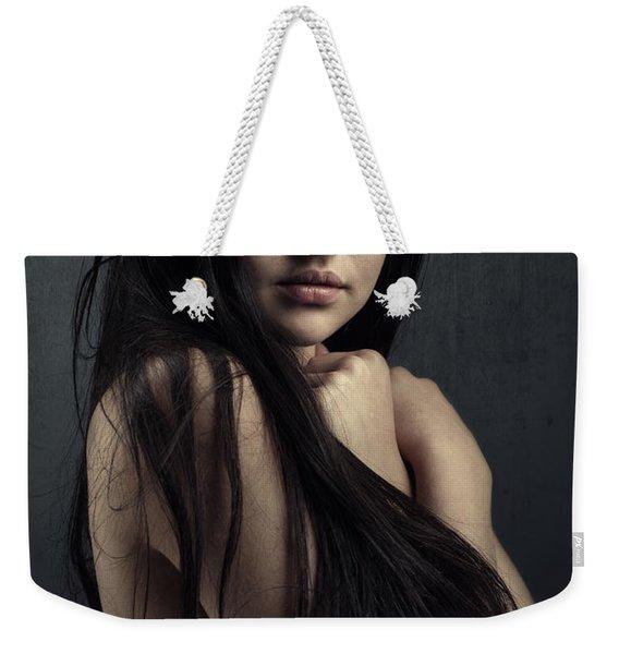 Innocent Young Woman Weekender Tote Bag