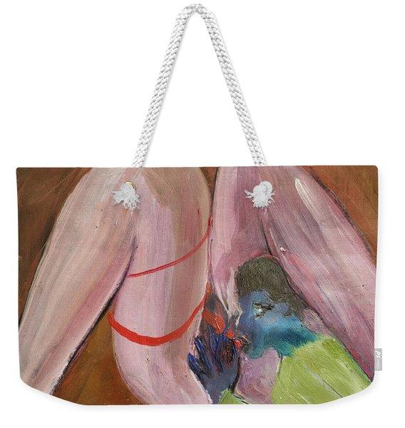 Insatiable Man Insatiable Weekender Tote Bag
