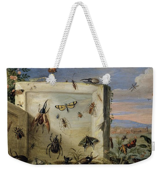 Insects On A Stone Slab Weekender Tote Bag