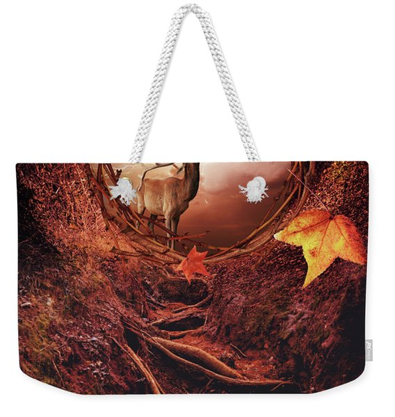 Inside Autumn Forest Weekender Tote Bag