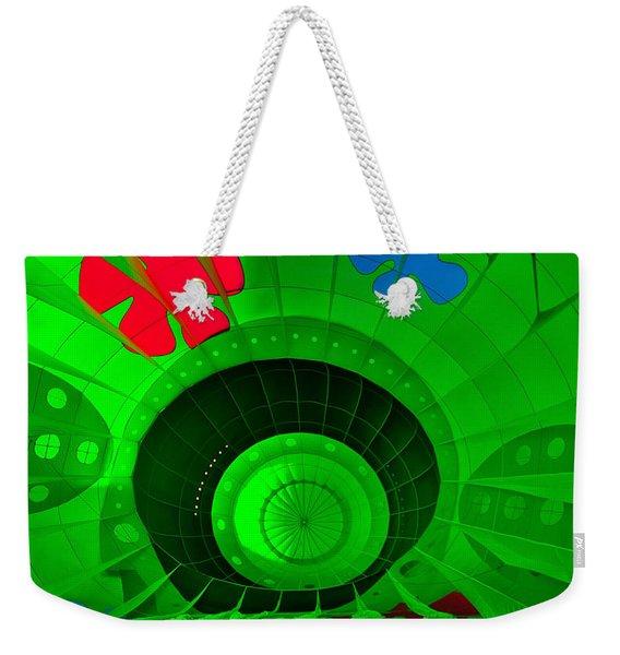 Inside The Green Balloon Weekender Tote Bag
