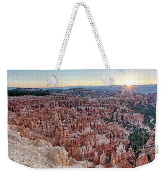Inspiration Point Sunrise Bryce Canyon National Park Summer Solstice Weekender Tote Bag