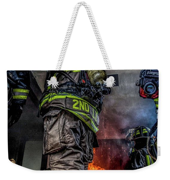 Interior Live Burn Weekender Tote Bag