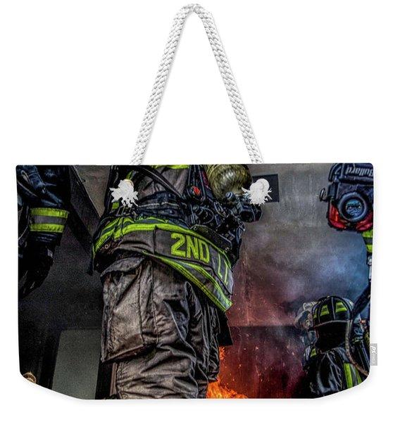 Interior Live Burn Weekender Tote Bag