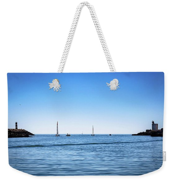 Into The Atlantic Ocean Weekender Tote Bag