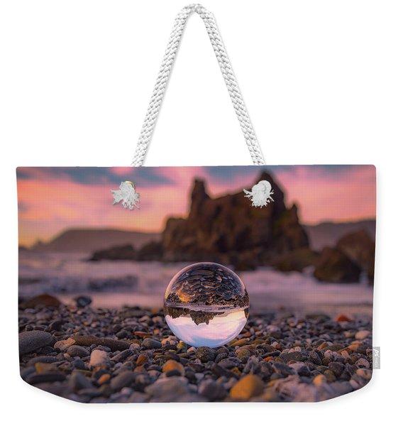 Inverted Sunset Weekender Tote Bag