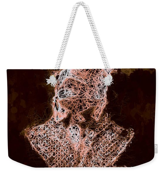 Weekender Tote Bag featuring the mixed media The Invisible Man by Al Matra