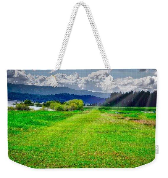 Inviting Airstrip Weekender Tote Bag