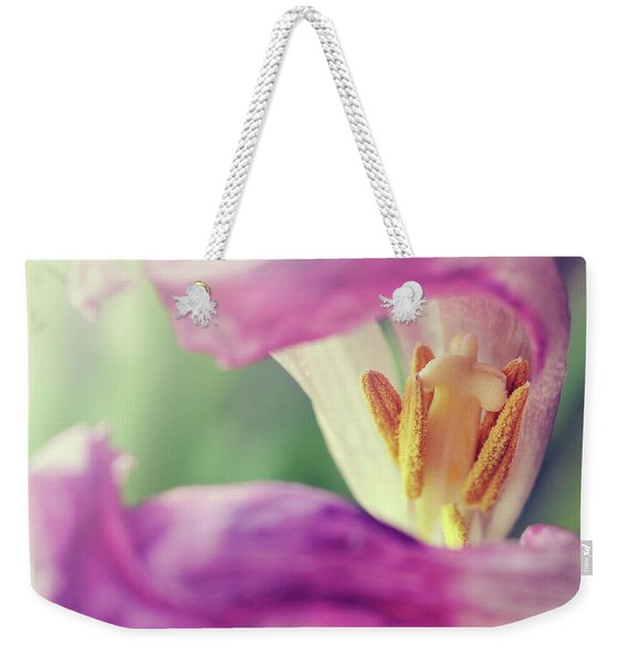 Weekender Tote Bag featuring the photograph Inward Beauty by Michelle Wermuth