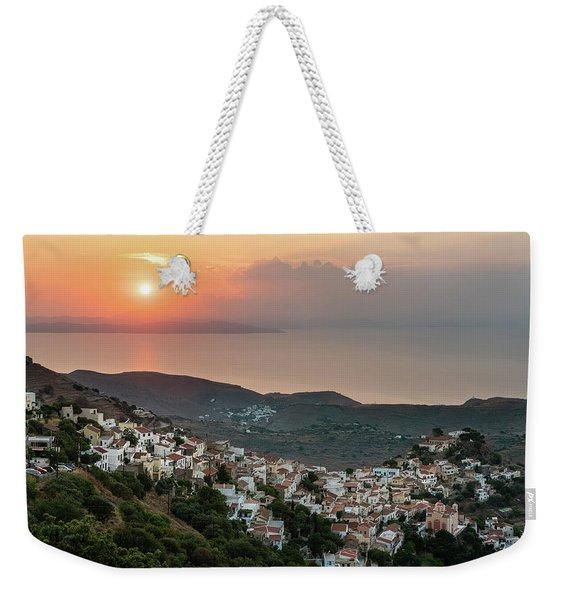 Ioulis Town Sunset, Kea Weekender Tote Bag