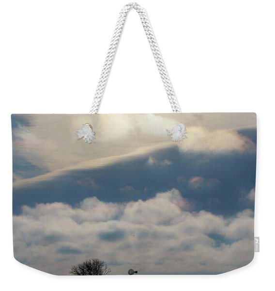 Weekender Tote Bag featuring the photograph Iridescent Clouds 01 by Rob Graham
