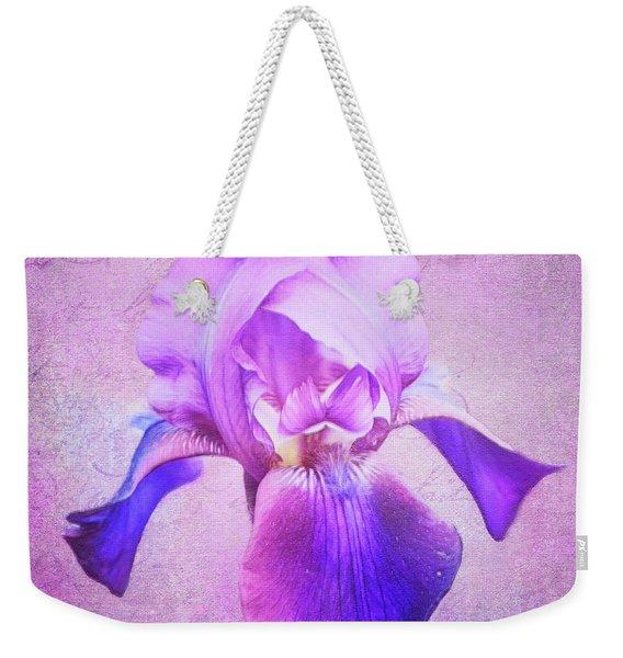 Pretty In Purple Iris Weekender Tote Bag