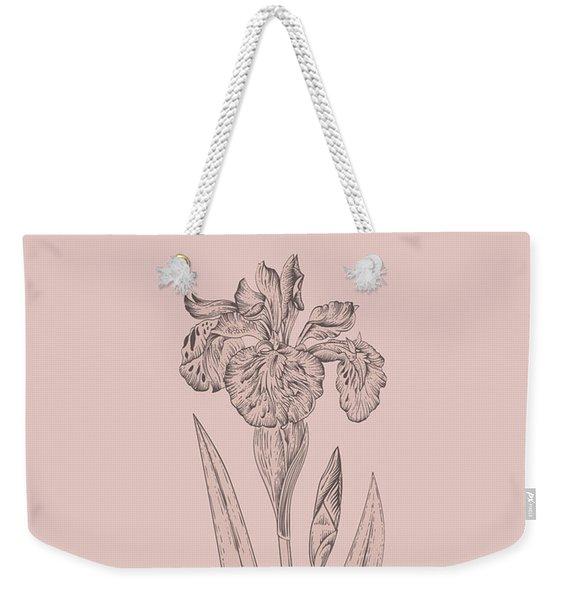 Iris Blush Pink Flower Weekender Tote Bag