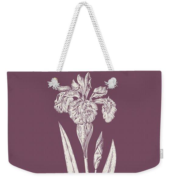 Iris Purple Flower Weekender Tote Bag
