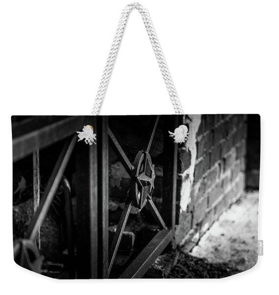 Iron Gate In Bw Weekender Tote Bag