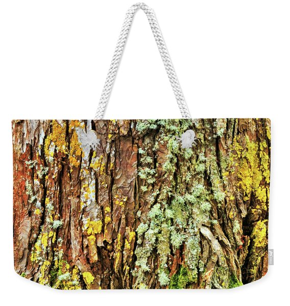 Weekender Tote Bag featuring the photograph Island Moss by JAMART Photography