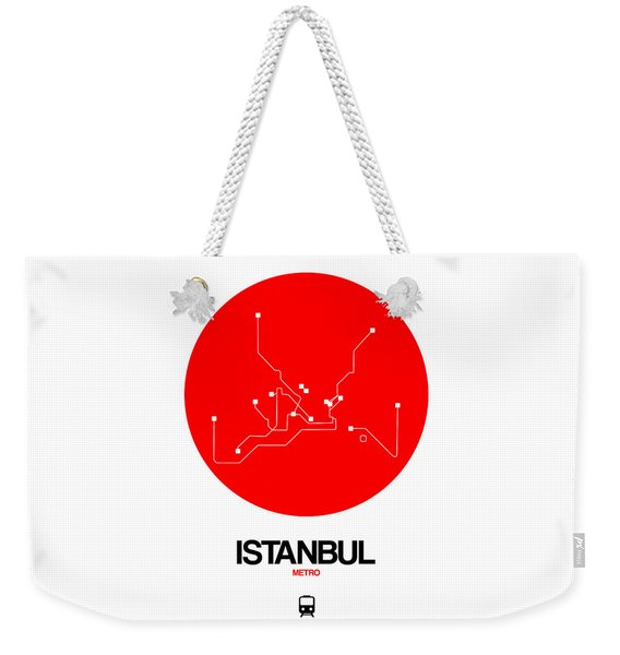 Istanbul Red Subway Map Weekender Tote Bag