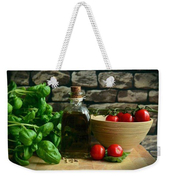 Italian Ingredients Weekender Tote Bag