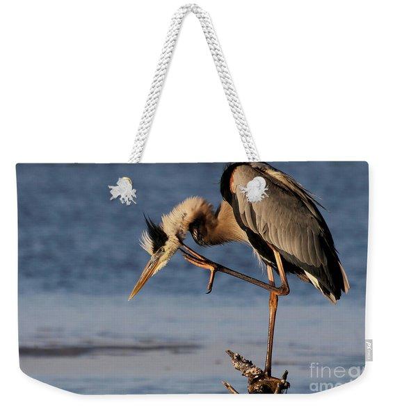 Itchy - Great Blue Heron Weekender Tote Bag