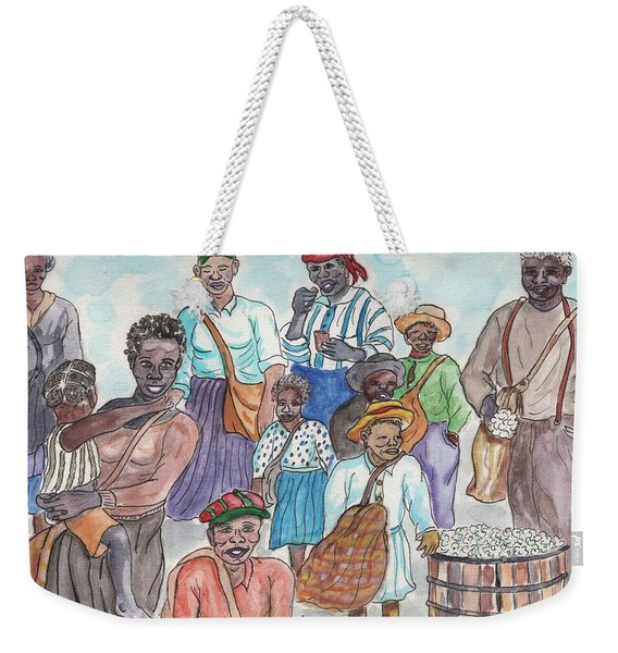 It's Cotton Picking Time At The Spangler Farm In South Alabama Weekender Tote Bag