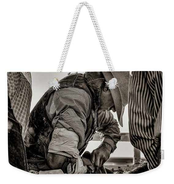 Its The White Of His Knuckles Weekender Tote Bag